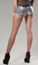 Main Street Low Rise Sequin Shorts Forplay
