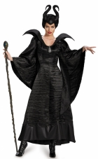Maleficent Deluxe Christening Black Gown Adult Costume Disguise