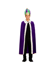 Mardi Gras King Robe & Crown Set Costume