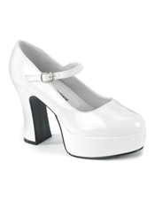 Mary Jane White Adult Shoes Pleaser USA
