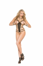 Mesh Net Cupless and Crotchless Teddy Elegant Moments