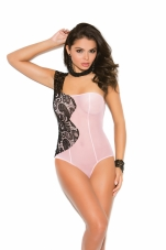 Mesh One Shoulder Teddy