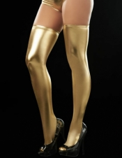 Metallic Thigh High Stockings Espiral