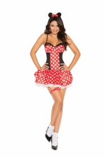 Miss Mouse 3 Pc Costume