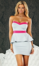 Monza Strapless Peplum Dress Forplay