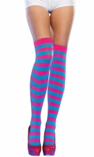 Neon Striped Thigh Highs Leg Avenue