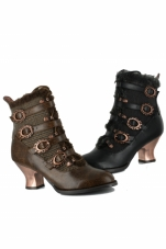 Nephele Victorian Ankle Boots Hades