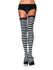 Nylon Stocking with Stripe Leg Avenue