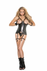Open Bust Vinyl Corset Elegant Moments