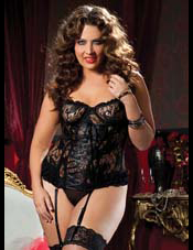 Paisley Pleasure Bustier & Thong