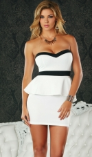 Pavia Strapless Peplum Dress Forplay