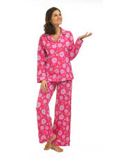 Pink Sunflower Classic Stretch PJ BedHead Pajamas