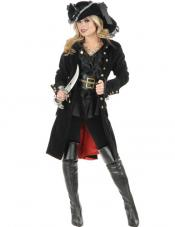 Pirate Vixen Coat Costume Charades Costumes