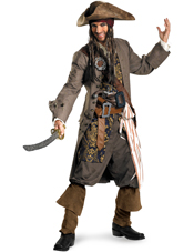 Pirates Of The Caribbean Captain Jack Sparrow Costume Disguise