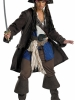 Pirates of the Caribbean Captain Jack Sparrow Prestige Adult Plus Costume Disguise
