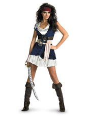 Pirates Of The Caribbean Jack Sparrow Sassy Costume Disguise