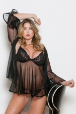 Plus Size Babydoll and Robe Set iCollection