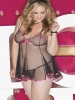 Plus Size Babydoll with Heart Embroidery Shirley
