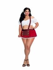 Plus Size Beer Garden Babe Oktoberfest Costume Set