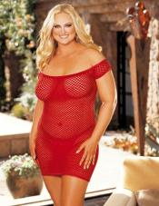 Plus Size Big Hole Chemise Shirley