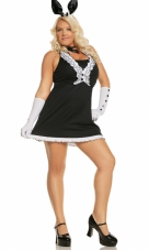 Plus Size Black Tie Bunny Costume