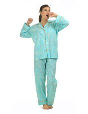Plus Size Blue Arabesque Classic Cotton PJ