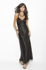 Plus Size Charmeuse Halter Gown