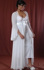 Plus Size Chiffon Long Robe Vx Intimate Lingerie