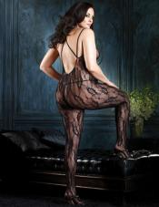 Plus Size Criss Cross Lace Bodystocking