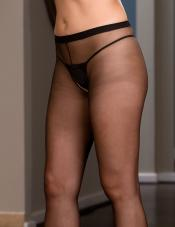 Plus Size Crotchless Pantyhose Dreamgirl