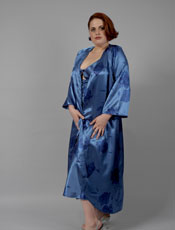 Plus Size Floral Long Robe Vx Intimate Lingerie