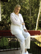 Plus Size Georgette Long Pajama Set