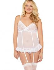 Plus Size Honeymoon Bustier Fantasy Lingerie