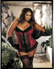 Plus Size Jacquard Lace Bustier Shirley