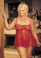 Plus Size  Lace Babydoll Shirley