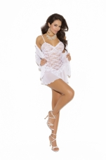 Plus Size Lace Babydoll Set Elegant Moments