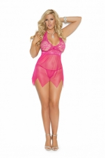 Plus Size Lace Raspberry Babydoll Elegant Moments