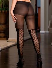 Plus Size Lace-Up Pantyhose Dreamgirl