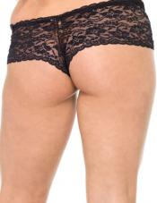 Plus Size Lace-Up Tanga
