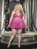 Plus Size Net Babydoll Shirley