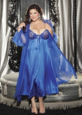Plus Size Peignoir Gown Set Shirley