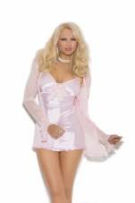 Plus Size Pink Heart Babydoll Elegant Moments