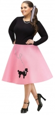Plus Size Poodle Skirt