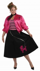 Plus Size Poodle Skirt Set