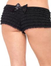 Plus Size Ruffled Boy Short Leg Avenue