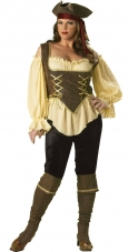 Plus Size Rustic Pirate Lady Costume InCharacter