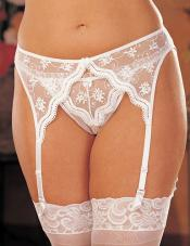 Plus Size Scalloped Garter Belt