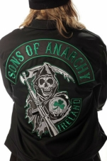 Plus Size Sons Of Anarchy Green Ireland Mechanic Jacket