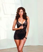Plus Size Stretch Lace Tank Style Chemise Dreamgirl