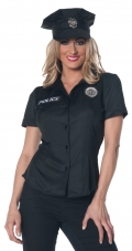 Plus Size Womens Police Shirt Costume
